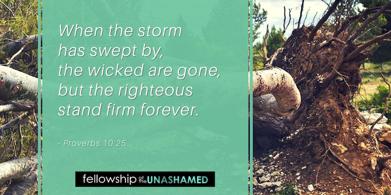 When the storm has swept by